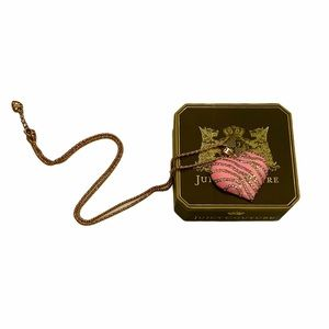 JUICY COUTURE Pink Heart Necklace